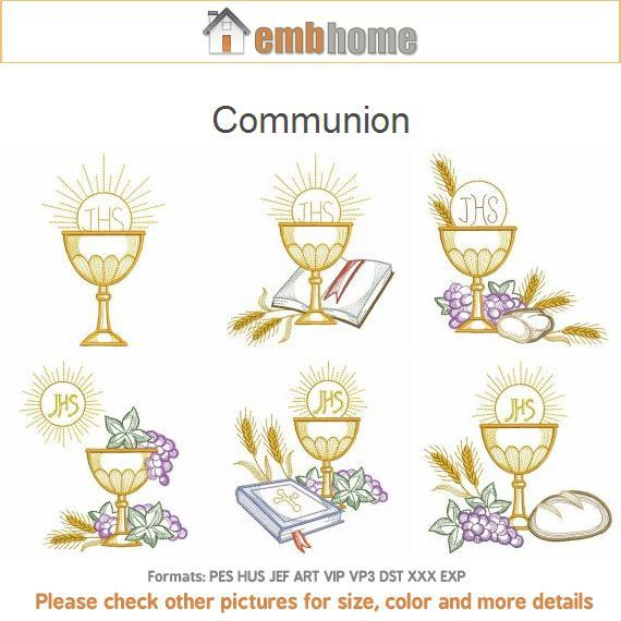 Communion Holly Chalice Machine Embroidery Designs Pack Instant ...