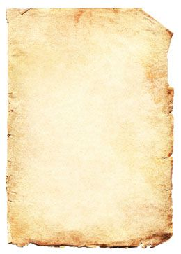 Parchment paper with writing