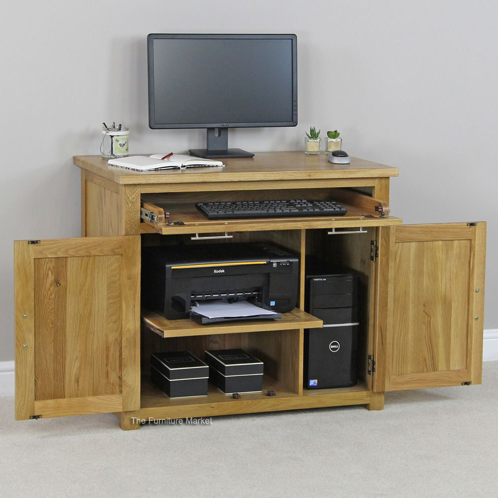 new london solid oak hideaway home office puter desk