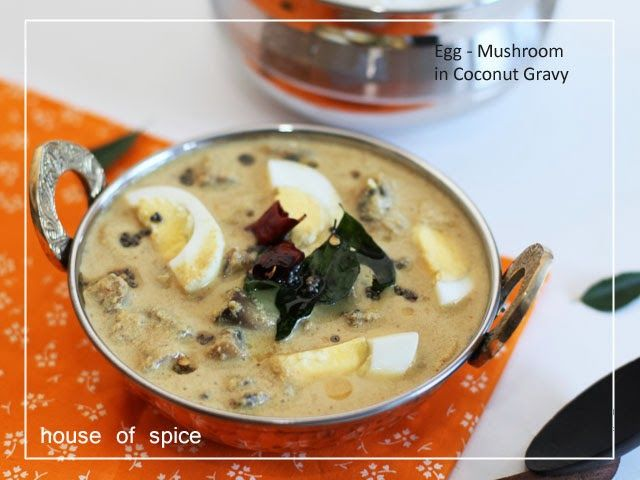 Egg & Mushroom in a Coconut Gravy, tempered with spices ,and a perfect Combo with rice @ HOSpice !!