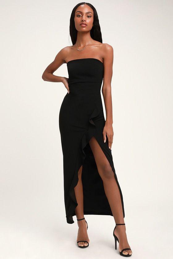 29++ Black strapless dress information