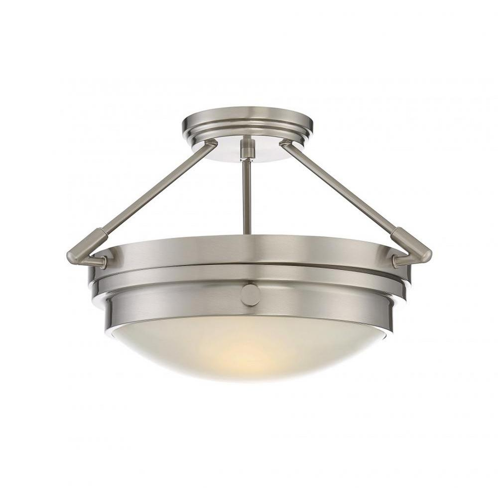 Photo of Filament Design Nelson 2-Light English Bronze Semi-Flush Mount CLI-SH254826 – The Home Depot