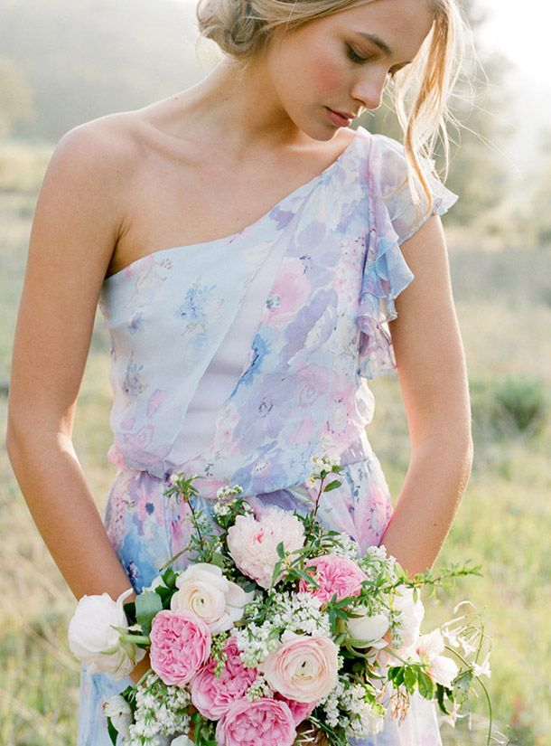 Pastel Fl Print Bridesmaid Dresses By Pps Couture