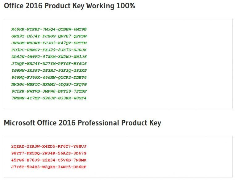 Office 2016 preview serial key or number