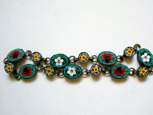 Vintage Micro Flower Mosaic Bracelet-Italy
