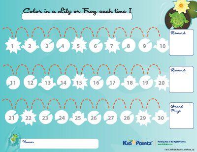 reward chart    this site has charts for a lot of tasks - progress chart for kids