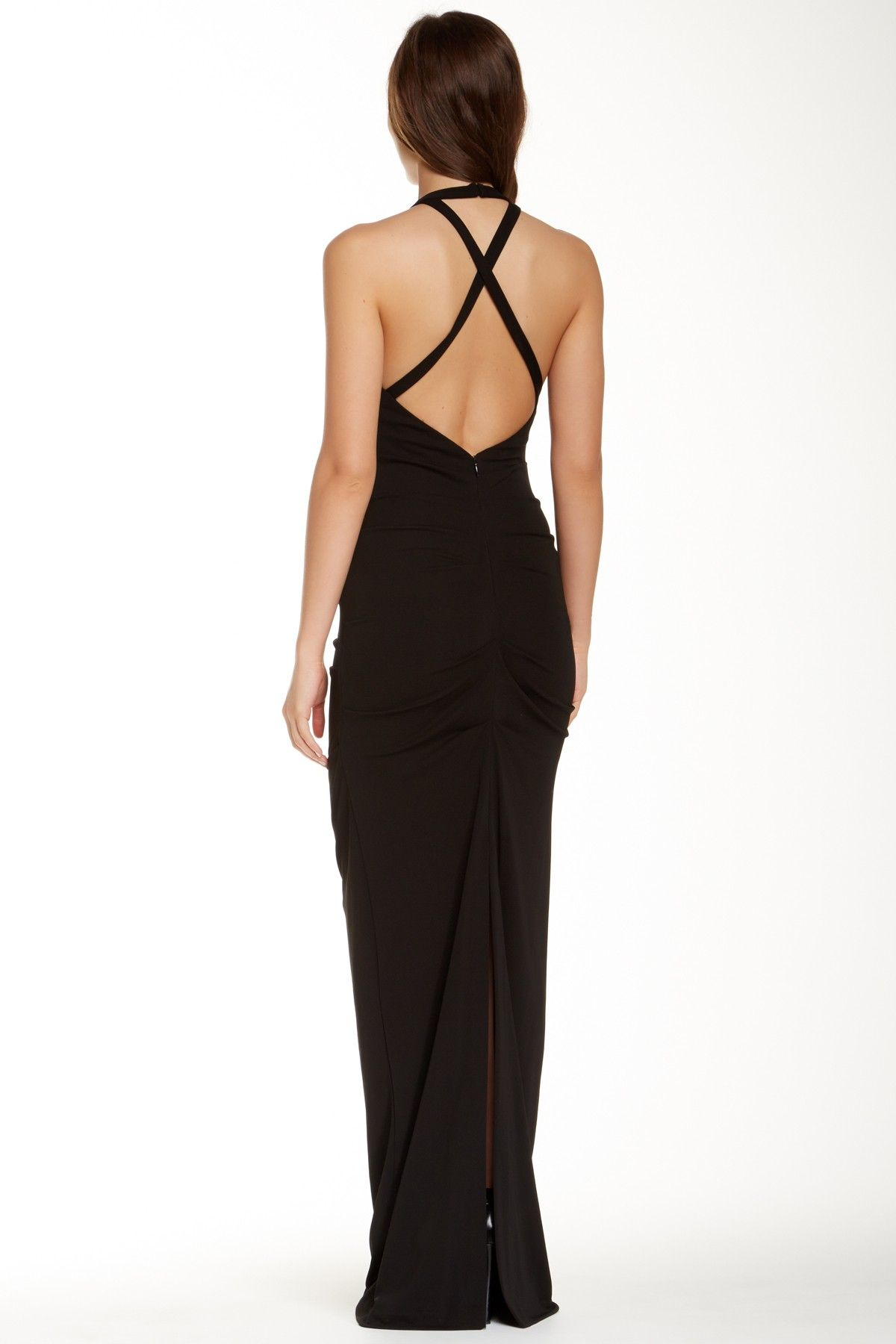 Adel Matte Jersey Gown by Nicole Miller on @HauteLook | Fashion ...