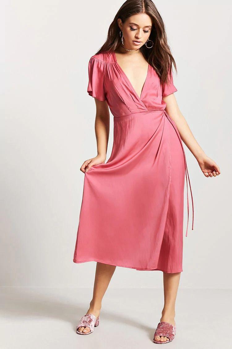 Surplice Wrap Dress   Forever 21   Ropa   Pinterest bdac283f26e5