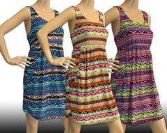 Tribal Print Short Sundresses Maxi Dresses #shortsundress