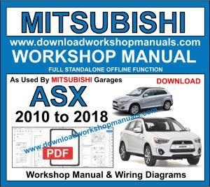 mitsubishi asx 2010 to 2018 workshop repair service manual & wiring diagrams  download pdf download engines: 2.0l 4-cyl… | mitsubishi, electrical diagram,  workshop  pinterest