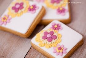 Pink & Yellow Floral Cookies