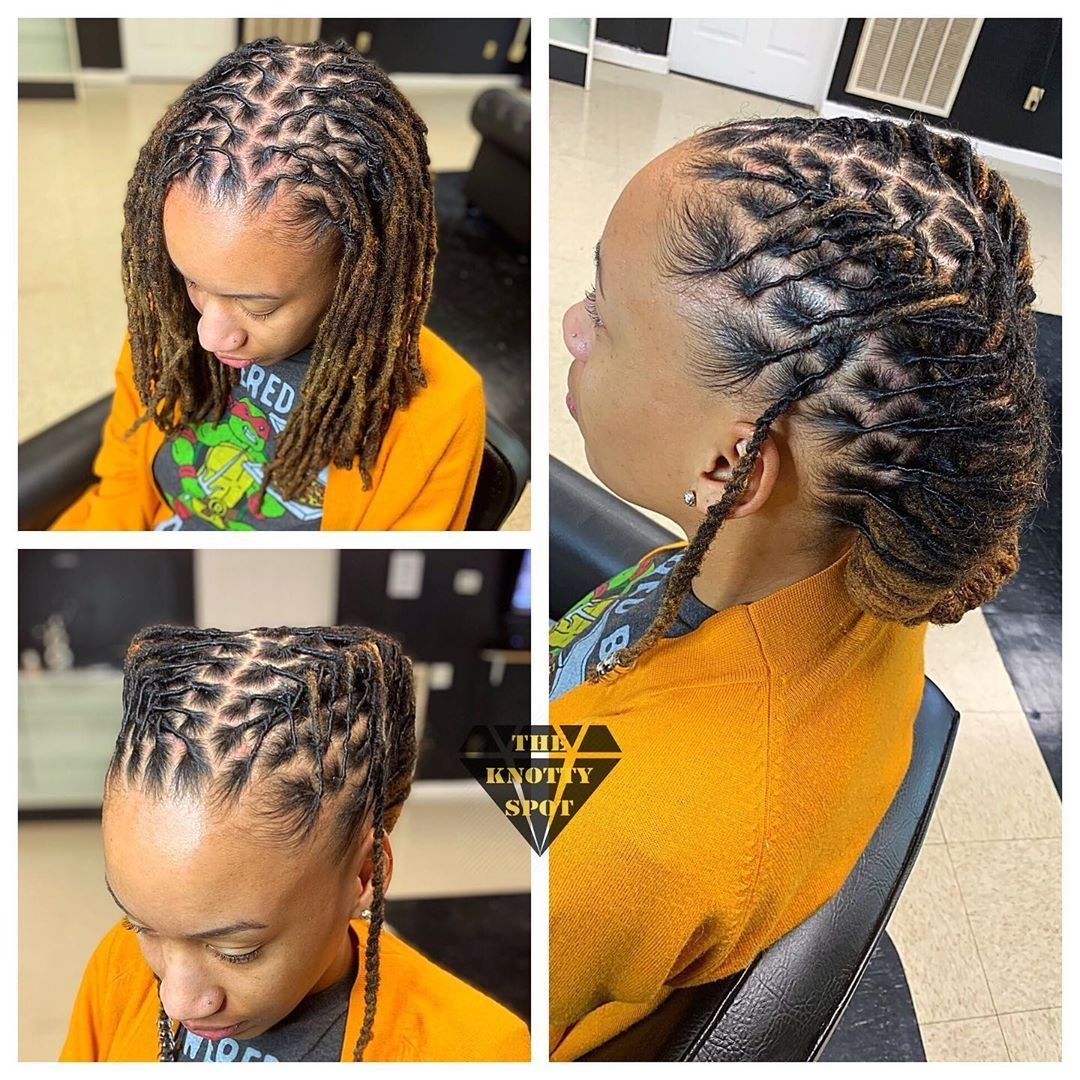 3 333 Likes 14 Comments Maquita James Theknottyspot On Instagram All Appointments Are Booked Online Short Locs Hairstyles Locs Hairstyles Hair Styles