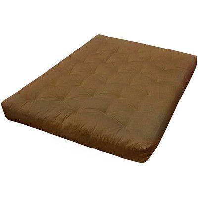 """Gold Bond 9"""" Cotton Futon Mattress Size: Full, Upholstery: Chocolate"""