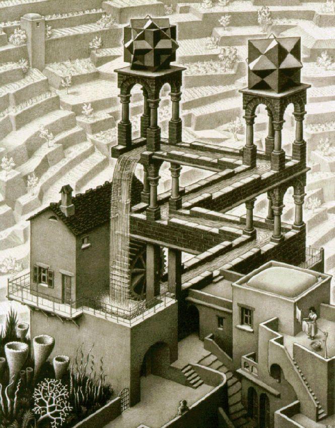 The Waterfall. M. C. Escher.