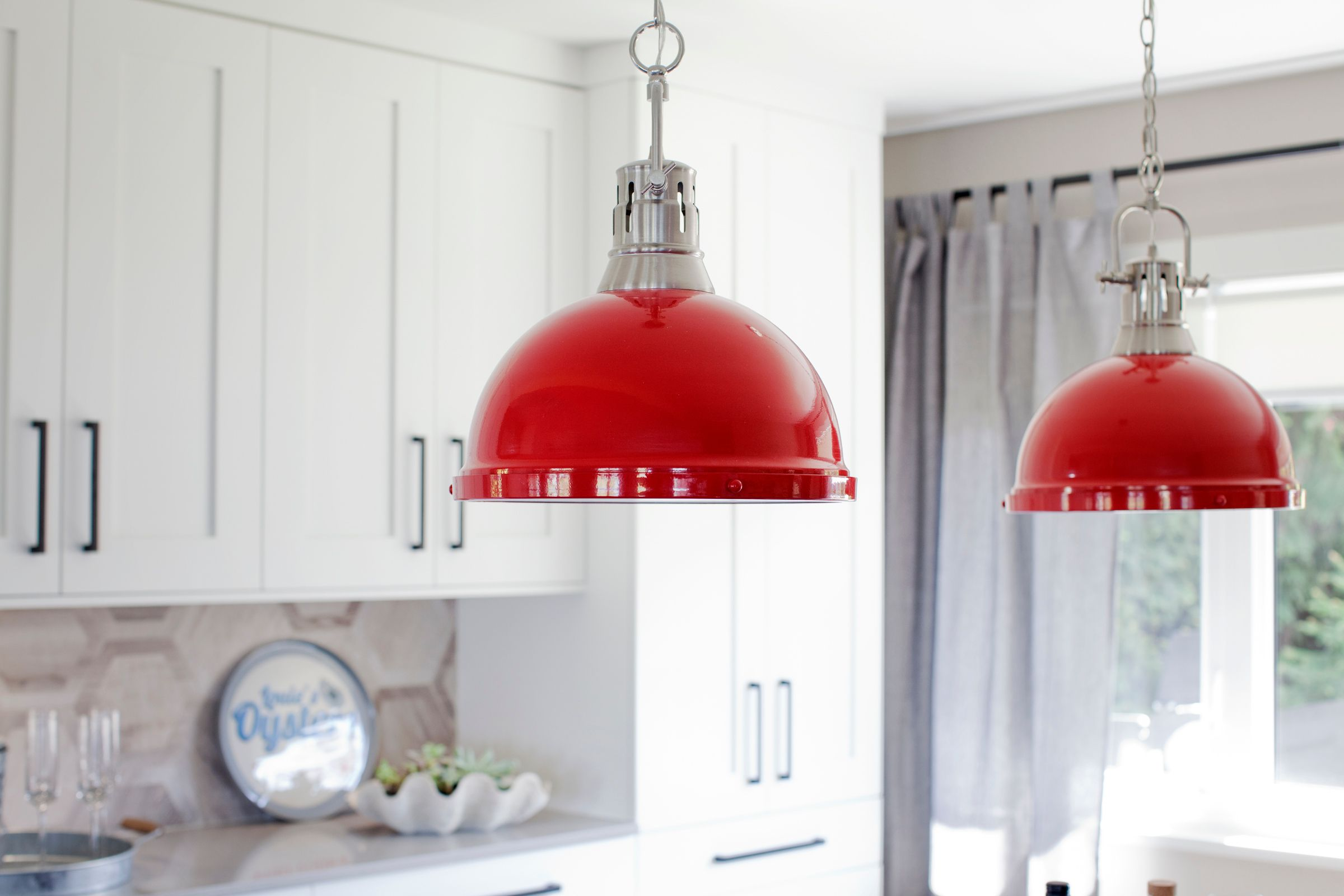 Using A Colourful Light Fixture In Your Kitchen Will Make