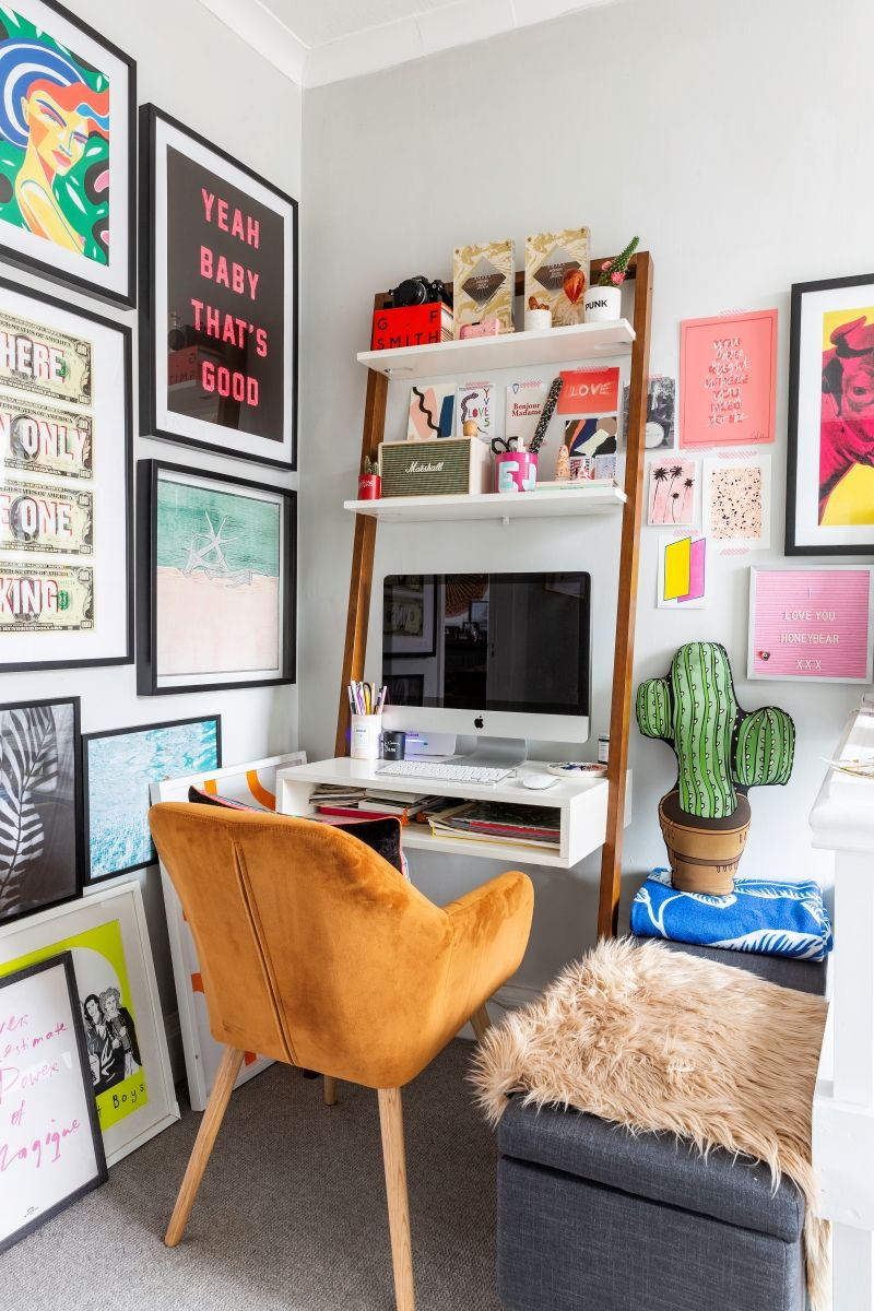 Howirent Video Home Tour Of A Colourful Rental In South West London Home Small Space Living Home Decor