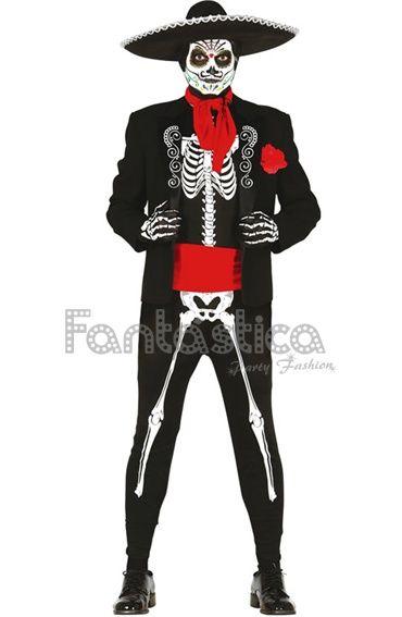 Disfraz para Hombre Esqueleto Mexicano Disfraces Halloween para