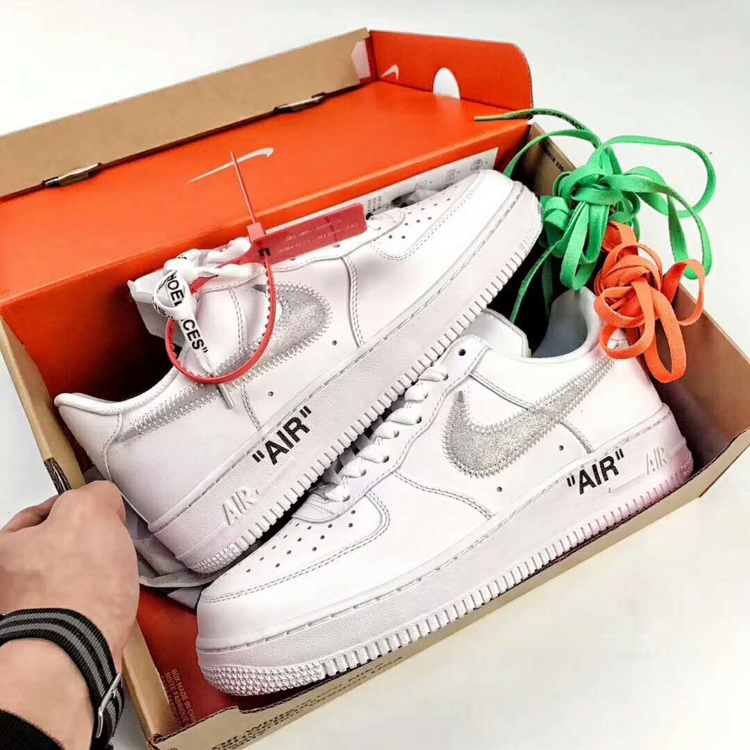 The OFFWHITE Nike Air Force 1 Low White colorway was