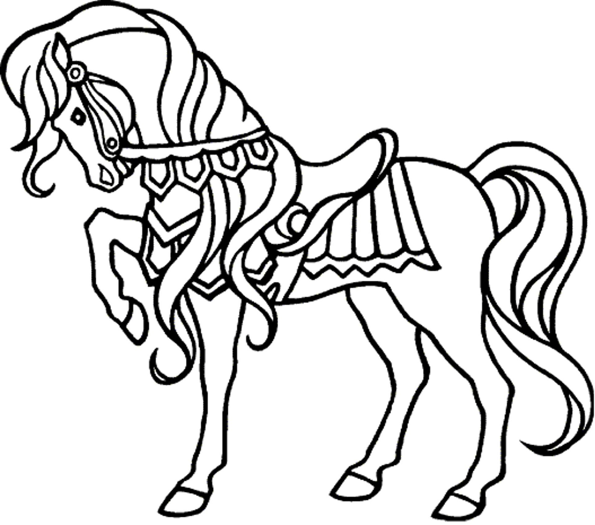 Printable Horse Coloring Book For Me