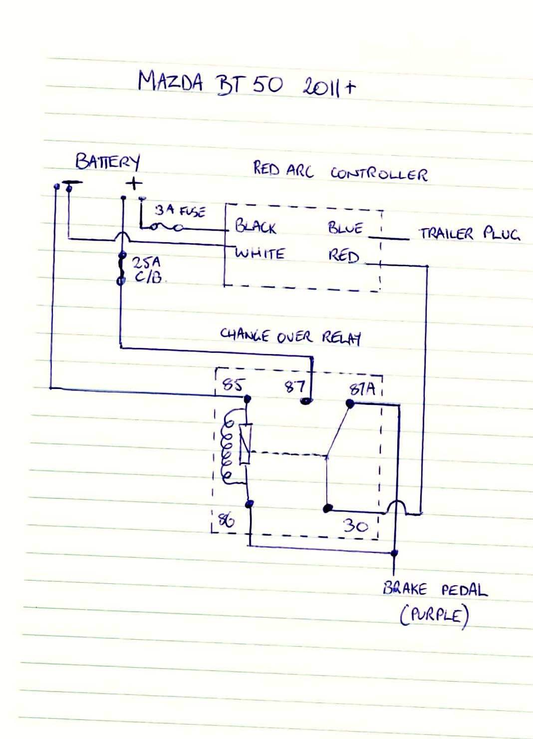 BT 50 Brake Controller Wiring Diagram | Discovery LR5 4x4 Project | Diagram, Floor plans, Ideas