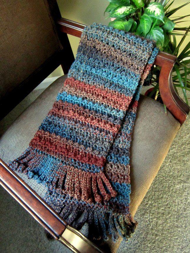 no bobble scarf done in homespun yarn   Crochet   Pinterest ...