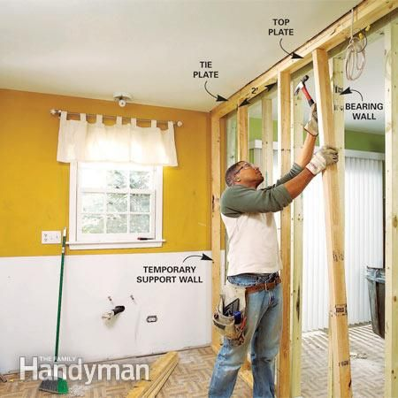 Build A Temporary Support Wall To Hold The Ceiling Up When You Install Load Bearing Beam