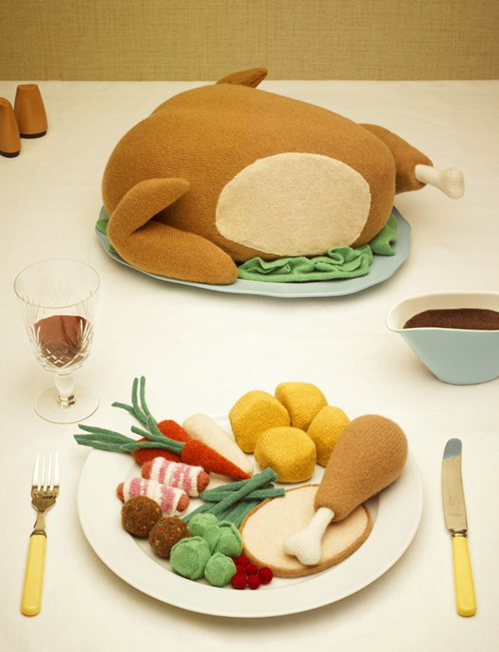 Realistic Comfort Foods Playfully Knitted Out Of Wool | Creative Ideas