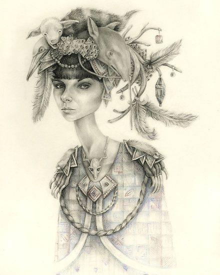 Witch Doctor / Portrait of Tara by brettisagirl | Art