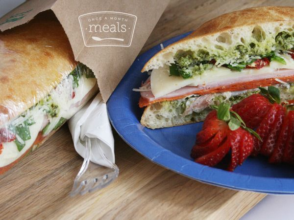 Picnic Sandwiches | OAMC from Once A Month Meals | Freezer Meals | Freezer Friendly | Picnic | Camping