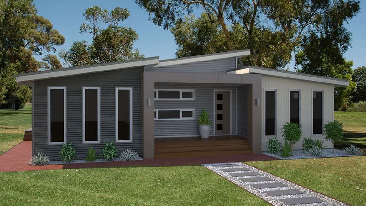 Looking For A Large Family Home Have A Look At Our Sorrento Design Which Includes 3 1 Bedrooms Family And Meals Area Anchor Homes Facade House Modular Homes