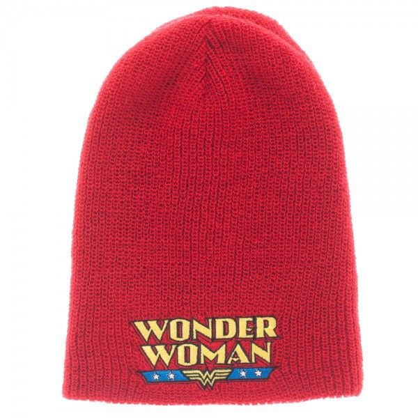 DC Comics Wonder Woman Reversible Slouch Hat Cap Beanie Cosplay