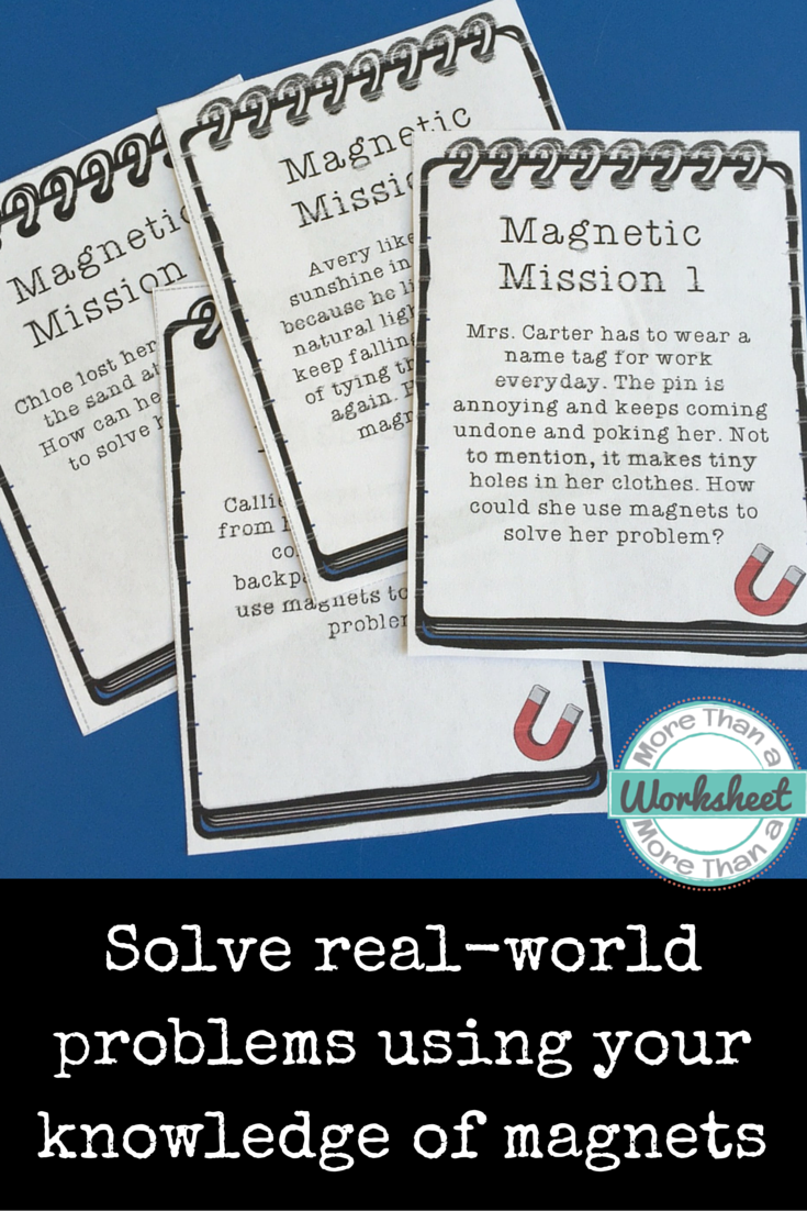 Magnet Mission Task Cards: 20 real world problems to solve using ...