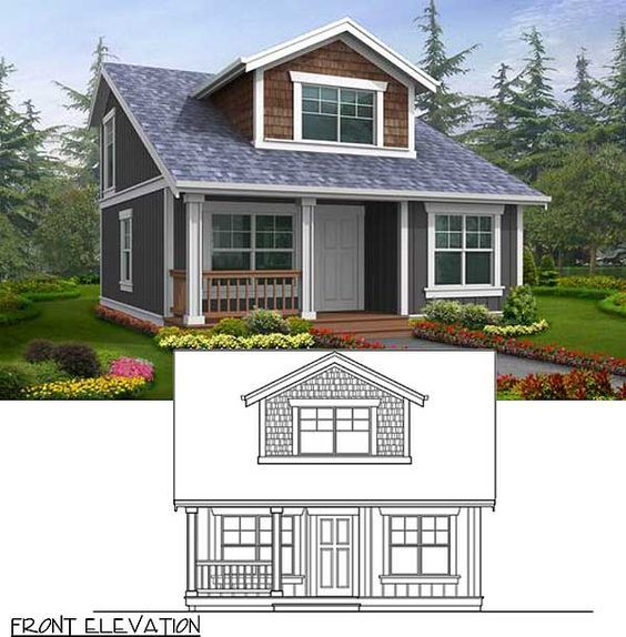 Plan 2395jd Small House Plan With Two Exterior Choices Cottage Homes Small House Plan House Plans