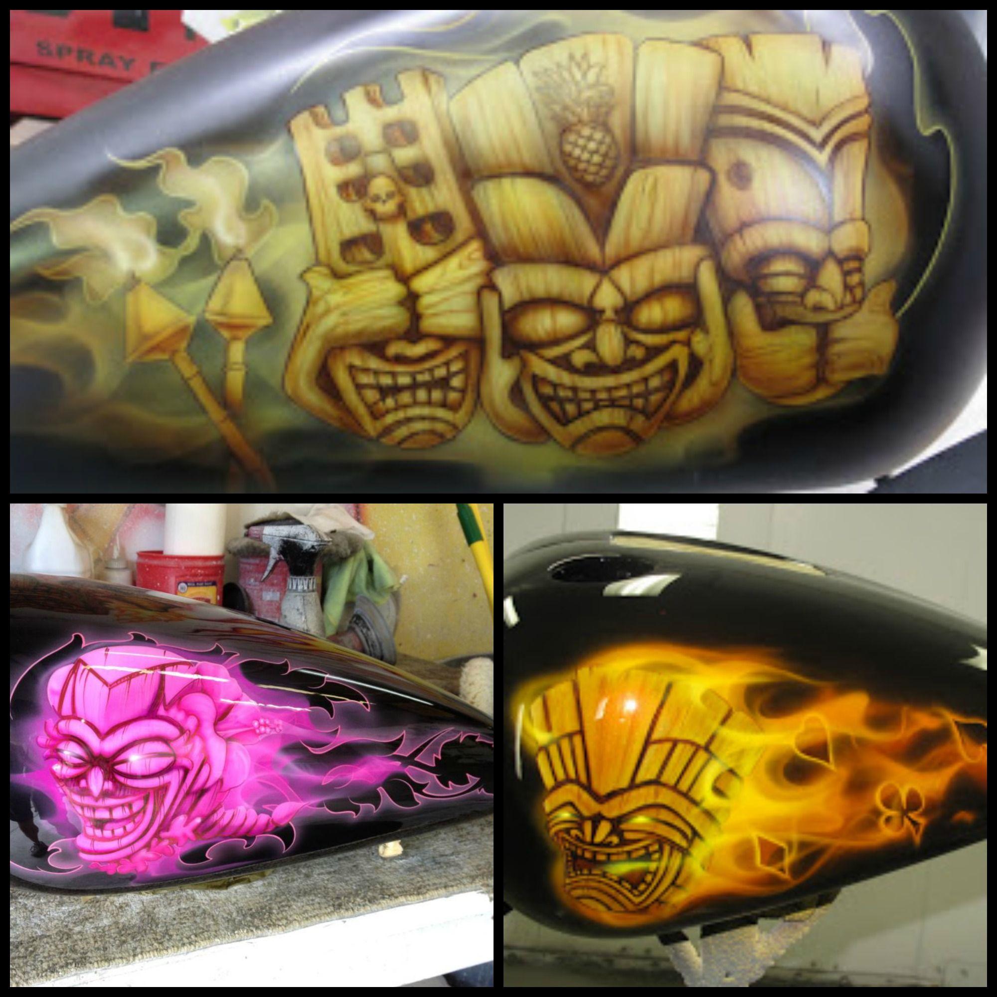 Dennis Mathewson Custom Motorcycle Tiki Series. Top