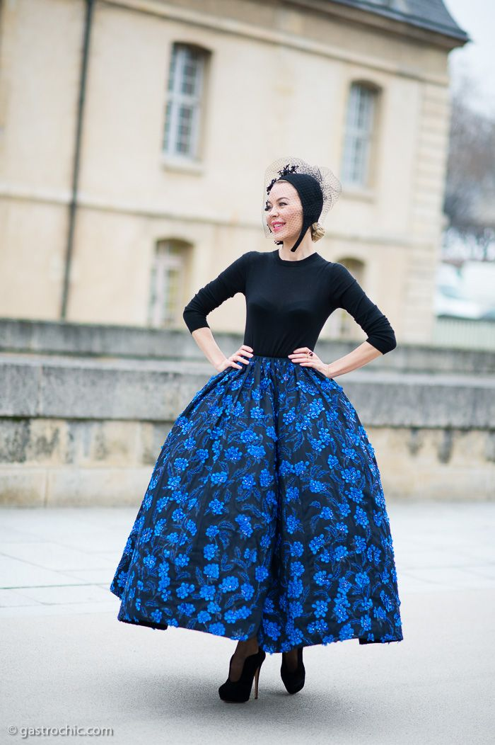Ulyana Sergeenko at Dior FW2013 #streetstyle #fashion #PFW #ulyanasergeenko on http://www.gastrochic.com