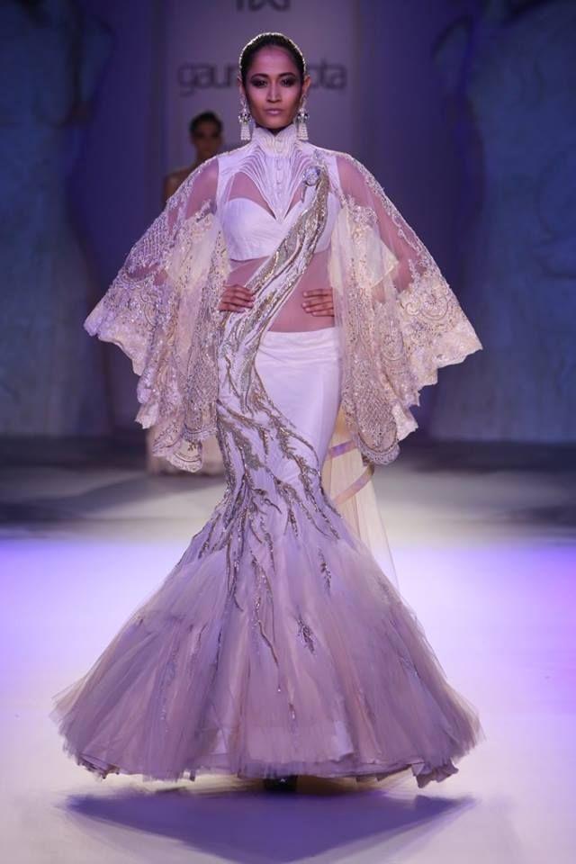 Gaurav Gupta at India Couture Week 2014 - white mermaid flared lehnga