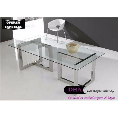 mesas para comedor en acero inoxidable con cristal de mm s