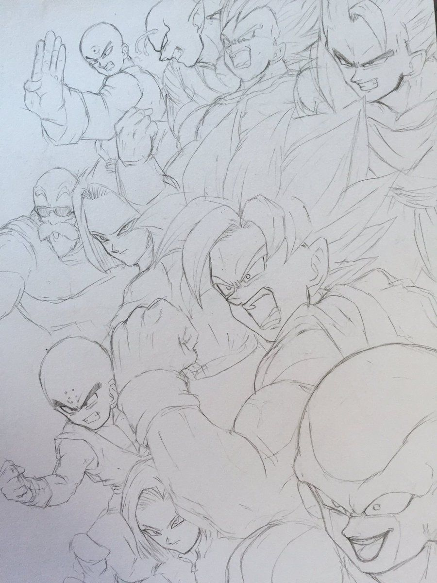 Dessin quipe de l 39 univers 7 dragonball dragon ball - Dessin de dragon ball ...