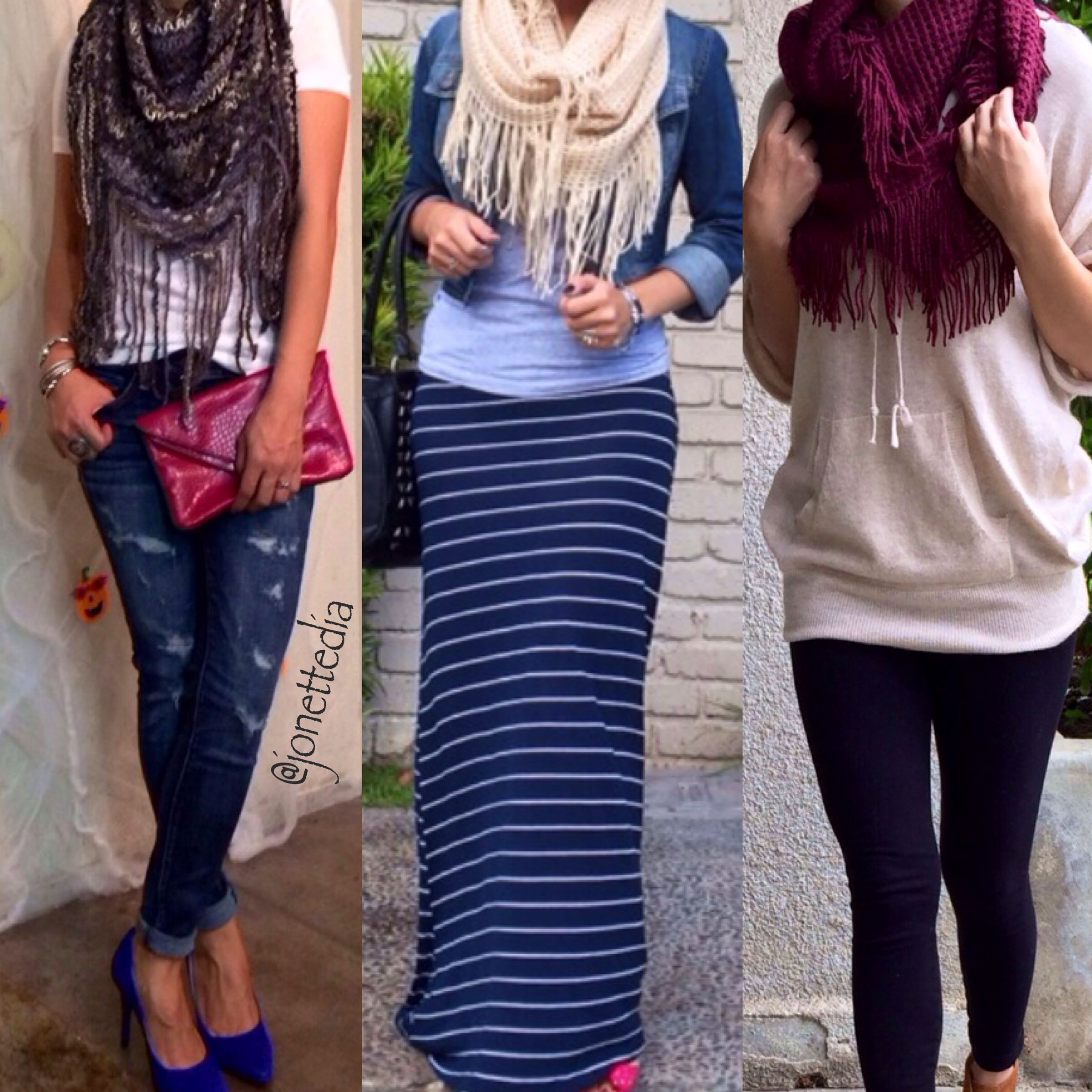 Fall outfits: fringe scarf