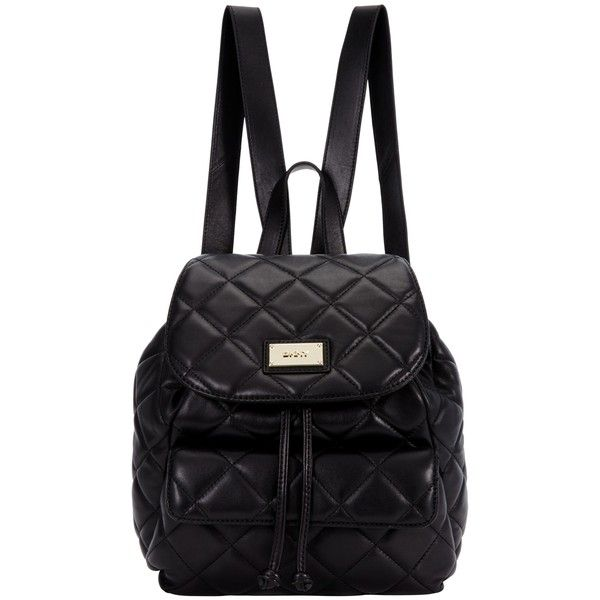 DKNY Gansevoort Quilted Leather Backpack, Black (€390) ❤ liked on ... : black quilted rucksack - Adamdwight.com