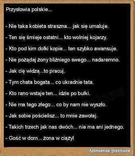 Polskie Przysłowia Cytaty śmieszne Cytaty I Zabawne Cytaty