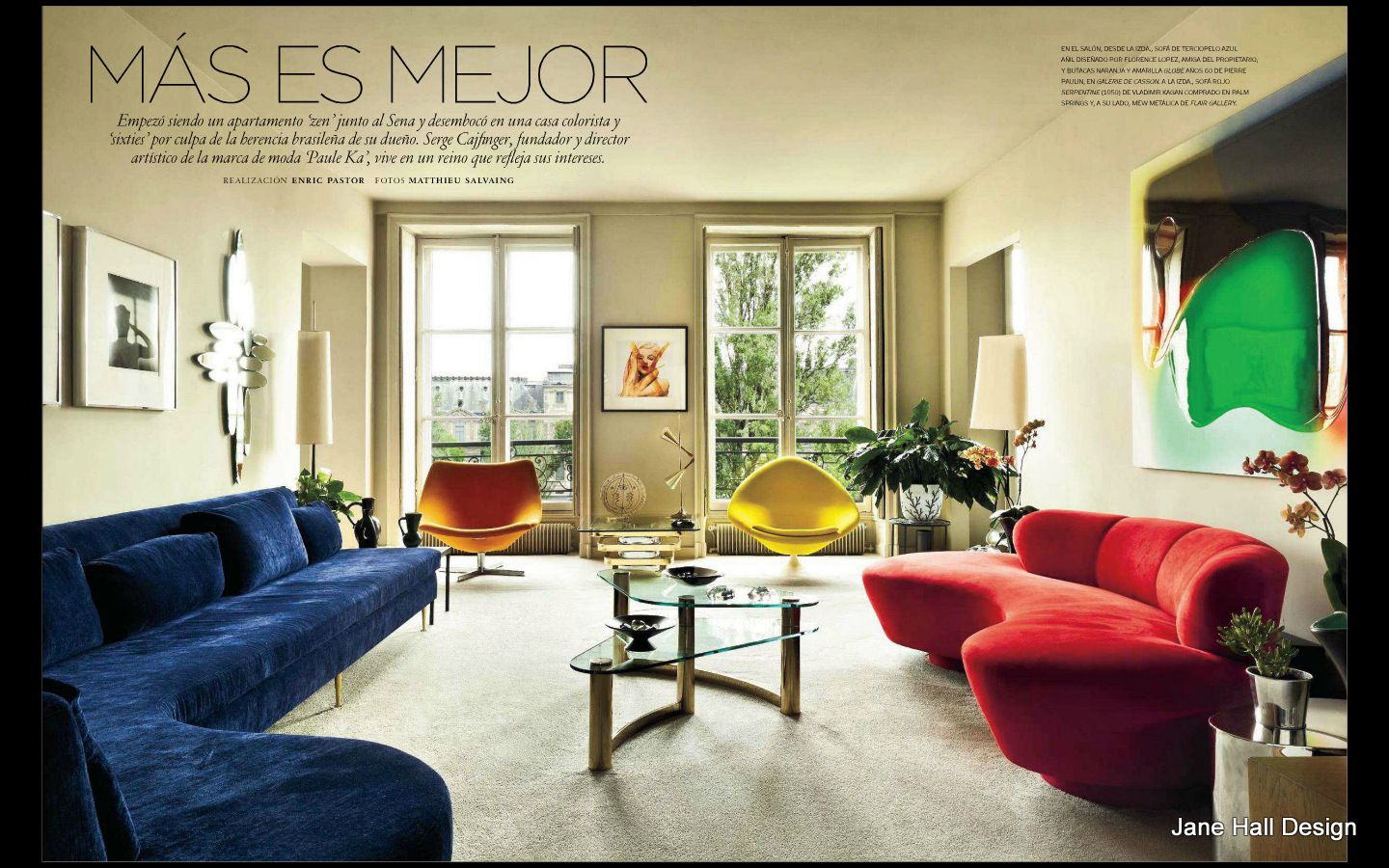 Mid Century Modern Style living room from AD Spain