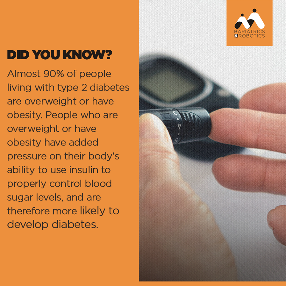 The Single Best Predictor Of Type 2 Diabetes Is Overweight Or