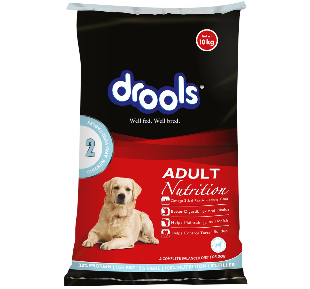 Drools Chicken Vegetable For Adult 10 Kg Dog Food Online