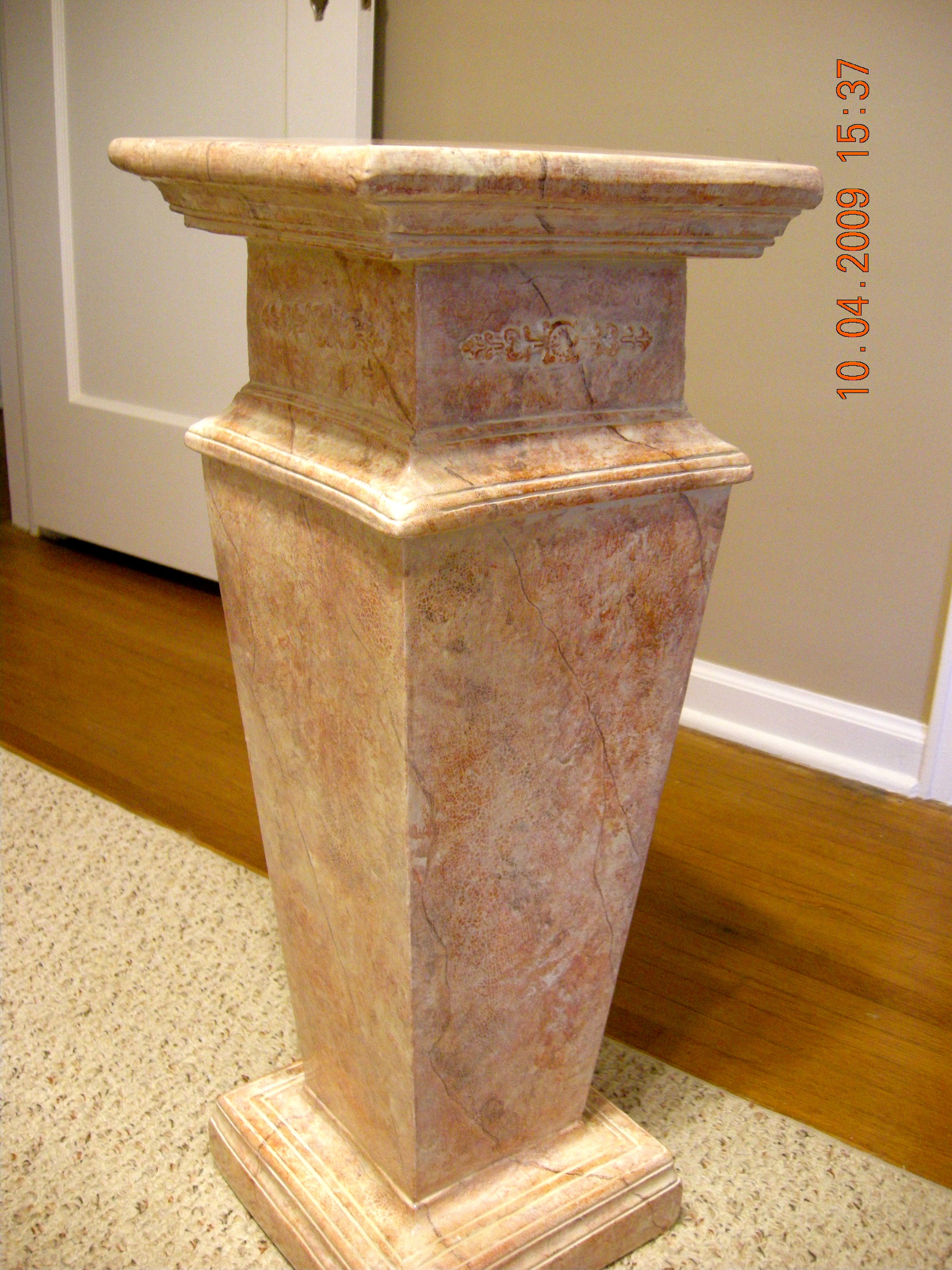 product from pedestal pedestals church plaster img antique old ornate sold