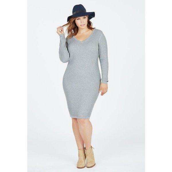 V neck maxi sweater dress
