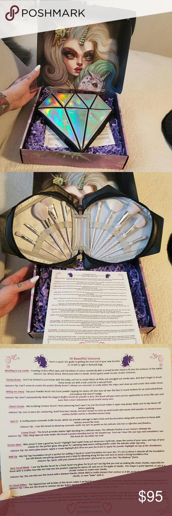 unicorn makeup brushes uses. authentic unicorn lashes brush set awesome from the uk. sold makeup brushes uses g