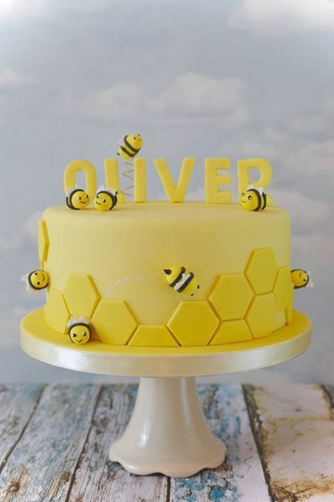 Sweet Bumblebee Birthday Cake Could Easily Be A Baby Shower Cake