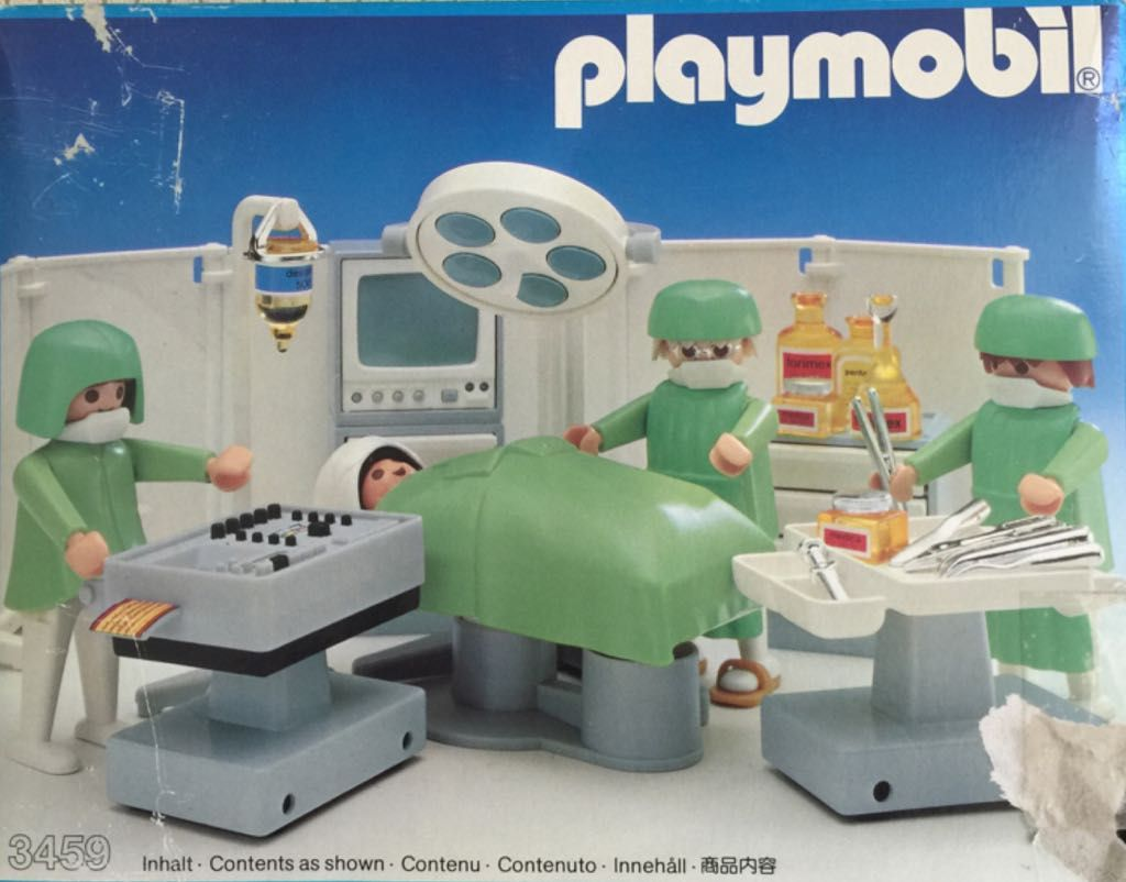 Badezimmer Playmobil ~ Hospital operating room playmobil hospital front image