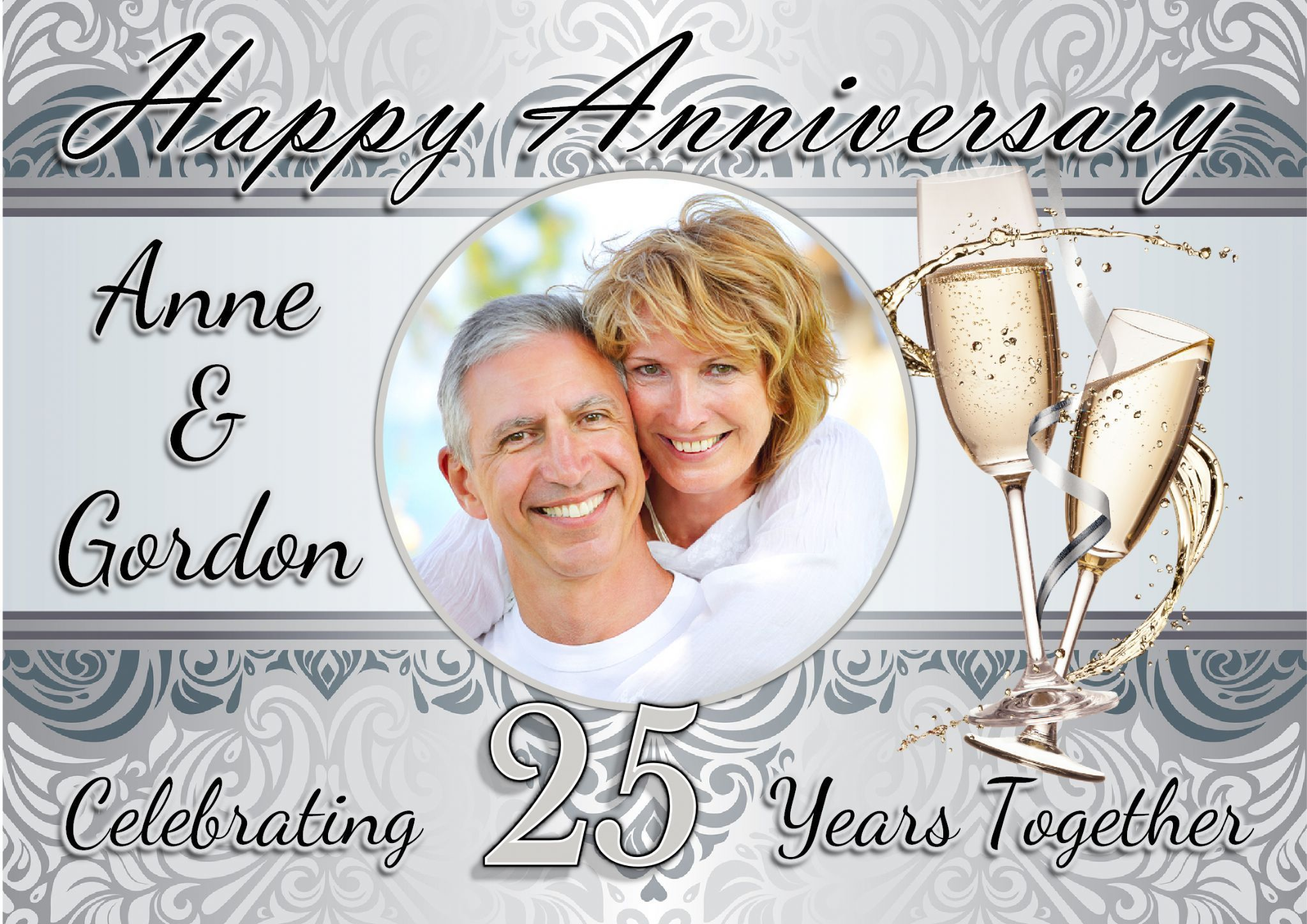 25th Wedding Anniversary Invitations Templates Free